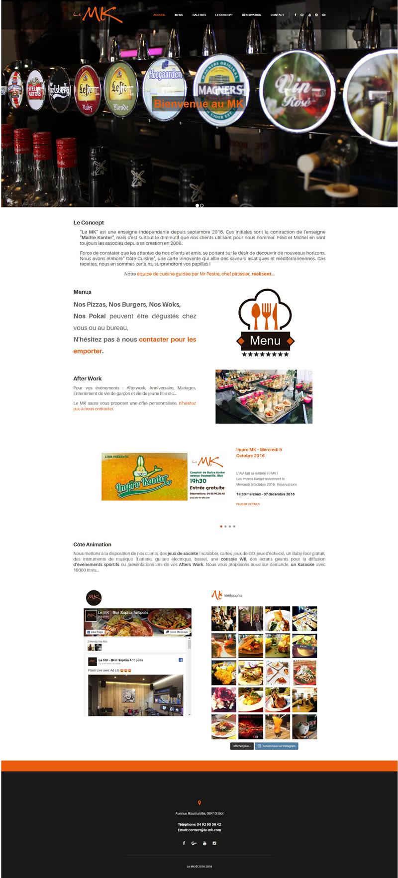 Site internet Le MK