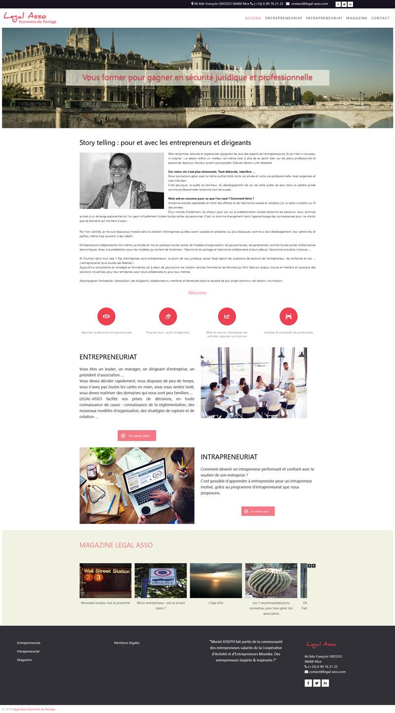 Site internet Legal Asso