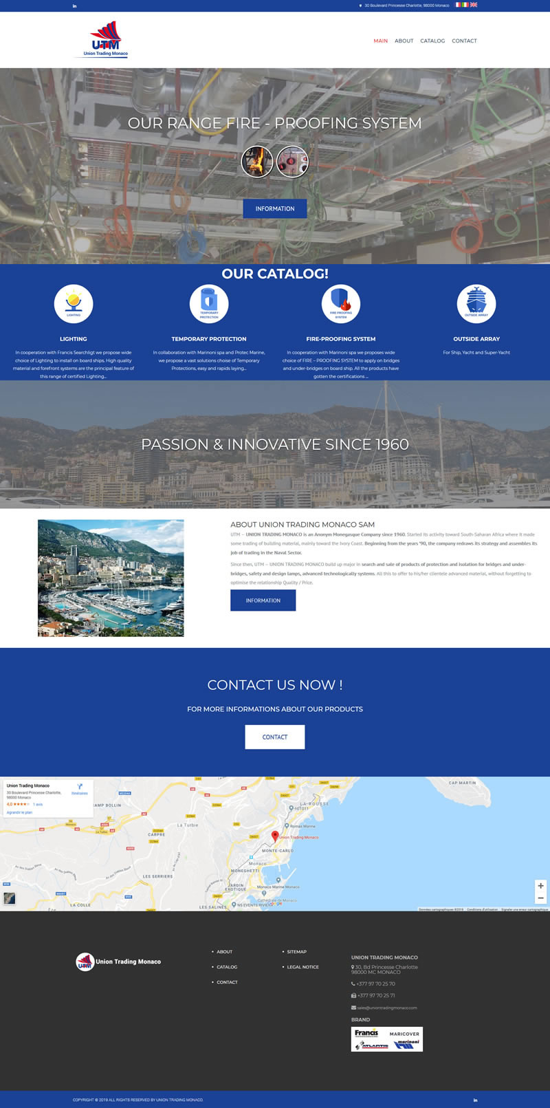 Site internet Union Trading Monaco