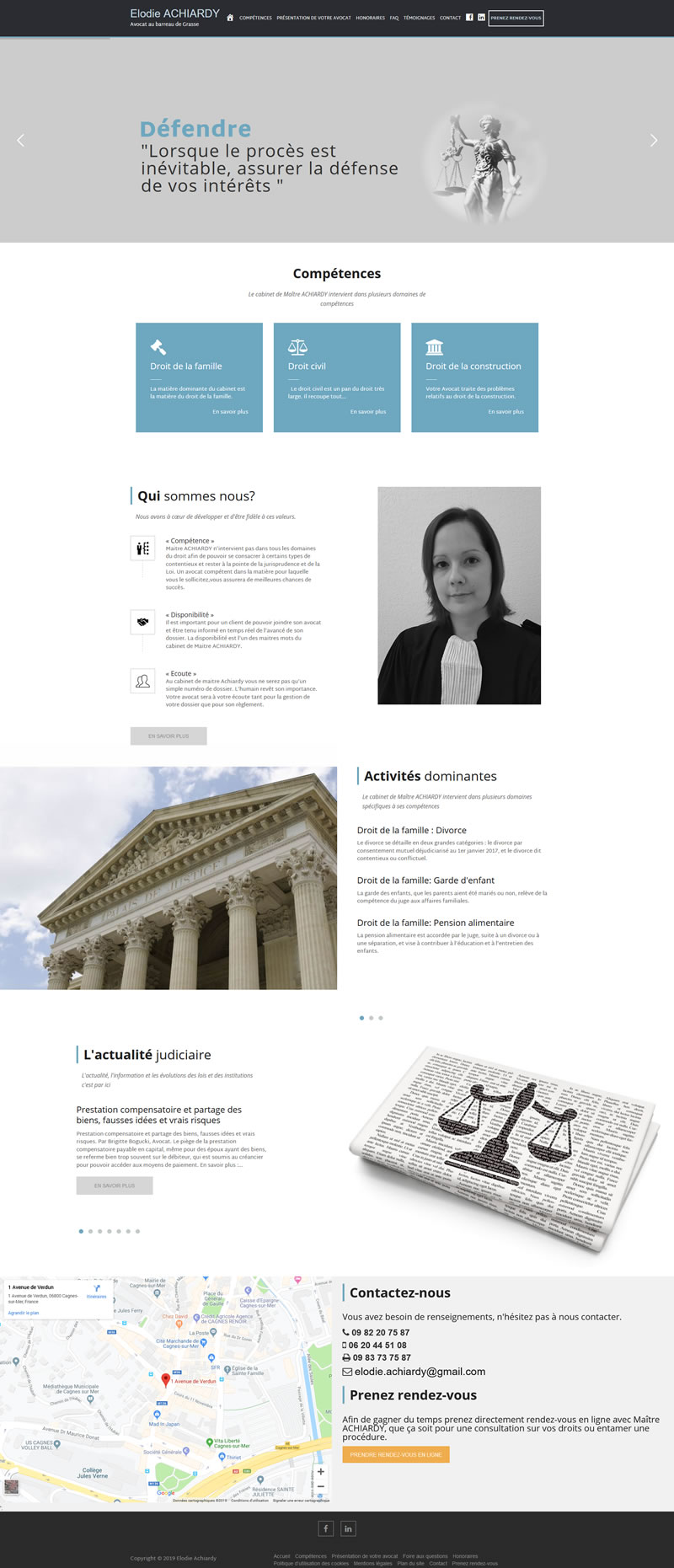 Site internet ACHIARDY AVOCAT