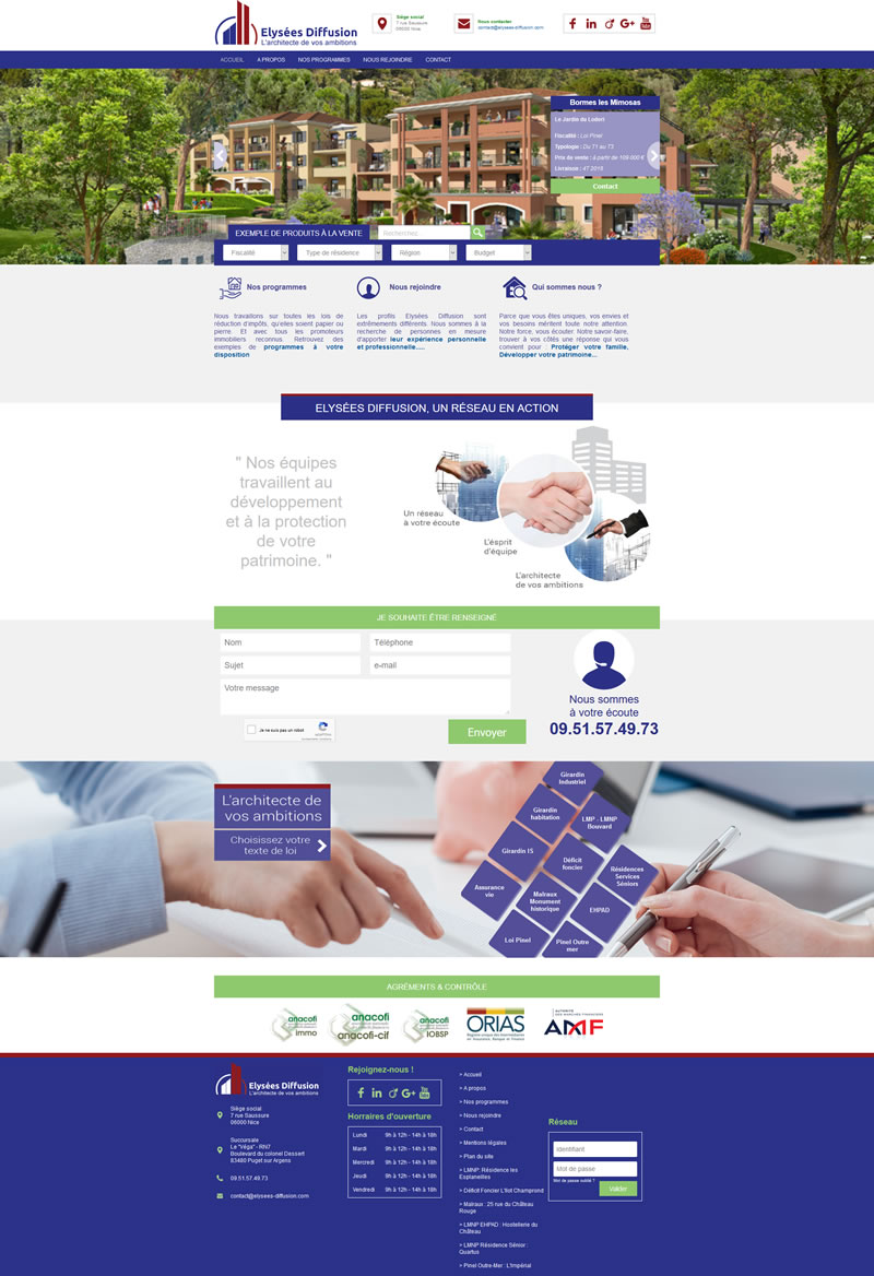 Site internet Elysée Diffusion